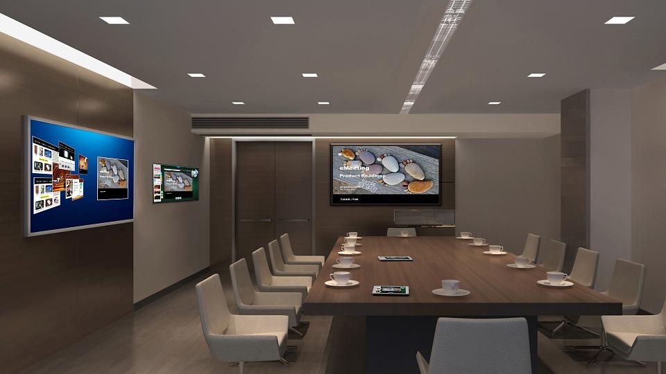 duża sala konferencyjna dla firmy